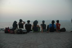 Gang Nritarutya watching sunset after the performance