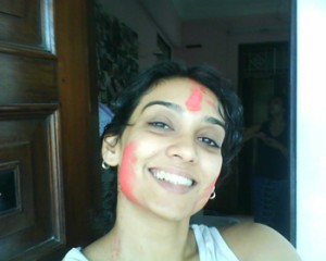 Me with holi colours