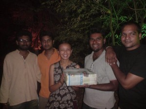 Ranga,Kritika,Chakravarthy, Santa-our students' team
