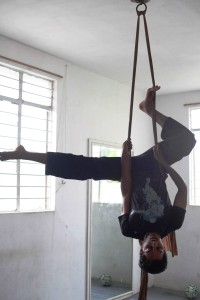 Vishwa trying some aerial moves